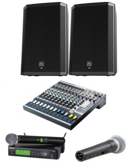 1000 WATTS SOUND SYSTEM GROUND STACK PACKAGE