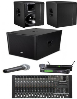 4000 WATTS GROUND STACK SOUND SYSTEM PACKAGE
