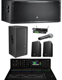 10000 WATTS GROUND STACK SOUND SYSTEM PACKAGE