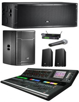 15000 Watts GROUND STACK SOUND SYSTEM PACKAGE