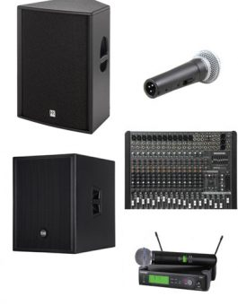 3000 WATTS GROUND STACK SOUND SYSTEM PACKAGE