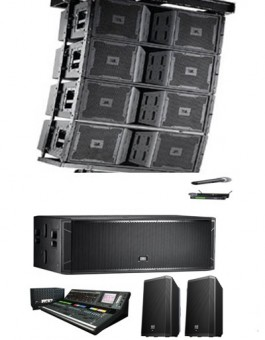 80000 WATTS ARRAY OUTDOOR SOUND SYSTEM PACKAGE